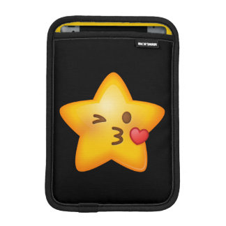 Kissy Face Star Emoji Sleeve For iPad Mini