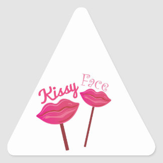 Kissy Face Triangle Stickers