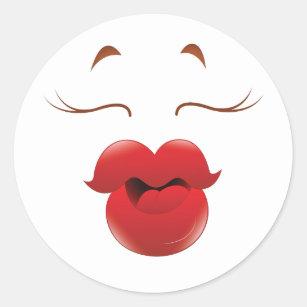 kissy face stickers zazzle rh zazzle com cartoon kissy face gif cartoon kissy face