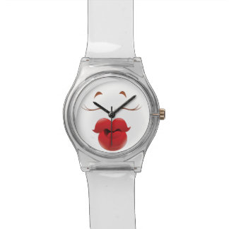Kissy Face Woman Cartoon Wristwatches