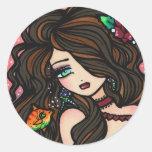 """""""Kissy Fish"""" Mermaid Stickers"""