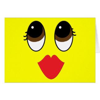 Kissy hace frente tarjeta de felicitación