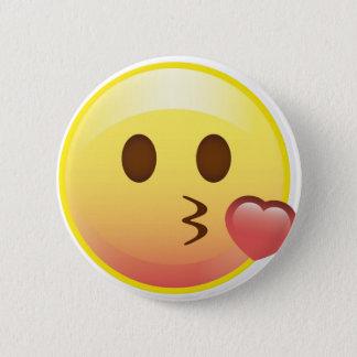 Kissy Heart Happy Kiss Emoji Face Button