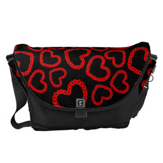 Kissy Hearts Courier Bag