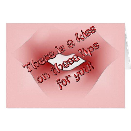 Kissy Lips Card