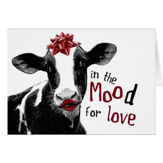 Kissy Lips Cow in the MOOd for Love Cards