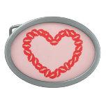 Kissy Lips Heart Belt Buckles