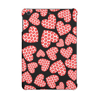 Kissy Lips Hearts iPad Mini Cover