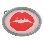 Kissy Lips Oval Belt Buckles