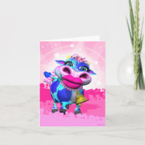 Kissy Moo the Cow Note Card