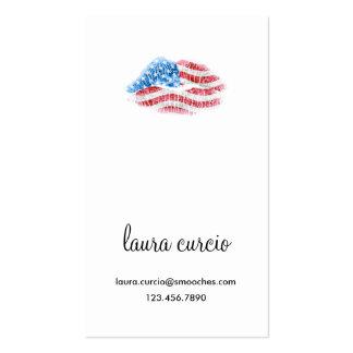 Kissy patriótico hace frente tarjetas de negocios