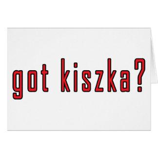 ¿kiszka conseguido? tarjeta de felicitación