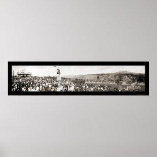 Kit Carson Dedication Photo 1913 Poster