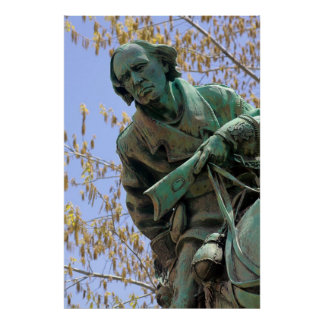 Kit Carson Statue, Carson City, Nevada Poster