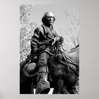 Kit Carson Statue, Carson City, Nevada Print