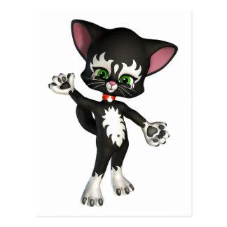 Kit E. Cat, the Cute Cartoon Kitten Postcard