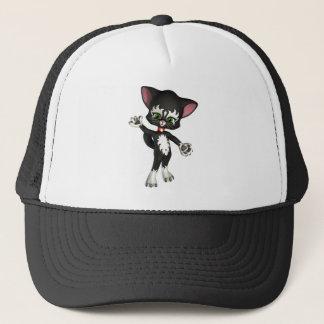 Kit E. Cat, the Cute Cartoon Kitten Trucker Hat
