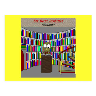 Kit Kitty Redefines:  Bookie Postcard