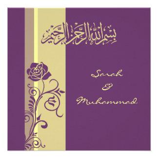 Kitab islámico color de rosa púrpura del katb de l