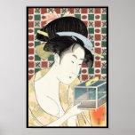 Kitagawa Utamaro Insect Cage japanese beauty lady Poster