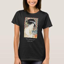 Kitagawa Utamaro Insect Cage japanese beauty lady T-Shirt