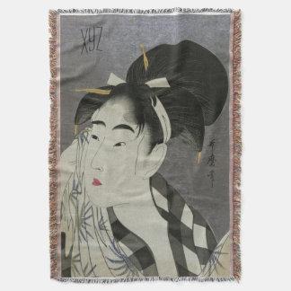 Kitagawa Utamaro's art custom throw blanket