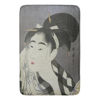 Kitagawa Utamaro's Ase O Fuku Onna art bath mat
