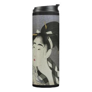 Kitagawa Utamaro's Ase O Fuku Onna art tumbler