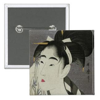 Kitagawa Utamaro's Ase O Fuku Onna button