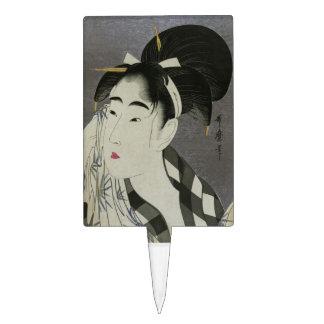Kitagawa Utamaro's Ase O Fuku Onna cake topper