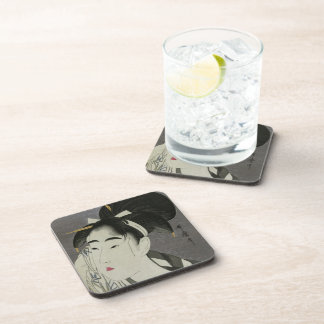 Kitagawa Utamaro's Ase O Fuku Onna coasters