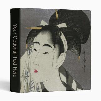 Kitagawa Utamaro's Ase O Fuku Onna custom binders