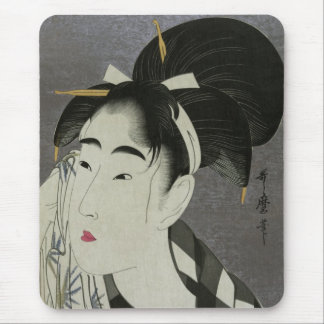Kitagawa Utamaro's Ase O Fuku Onna mousepad