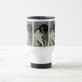 Kitagawa Utamaro's Ase O Fuku Onna mugs