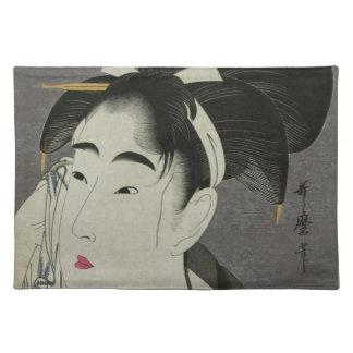 Kitagawa Utamaro's Ase O Fuku Onna placemats