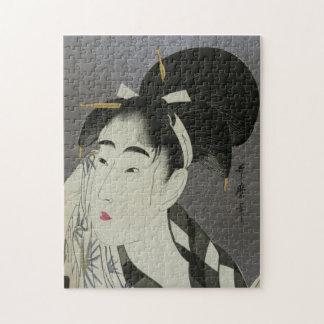 Kitagawa Utamaro's Ase O Fuku Onna puzzle