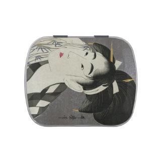Kitagawa Utamaro's Ase O Fuku Onna tins & jars Jelly Belly Tin