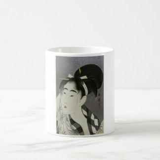 """Kitagawa Utamoro's """"Woman Wiping Sweat"""" Coffee Mug"""