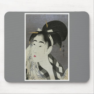 """Kitagawa Utamoro's """"Woman Wiping Sweat"""" Mouse Pad"""