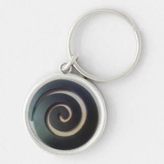 Kitch Silver-Colored Round Keychain