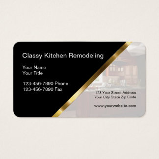 Kitchen And Bath Remodeling Business Cards