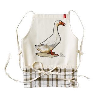 Kitchen apron and that brave duck cooking sweeties delantal zazzle HEART