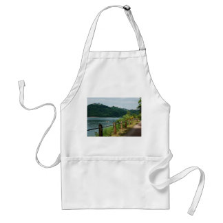 Kitchen apron Edersee bank and closed forest-hits