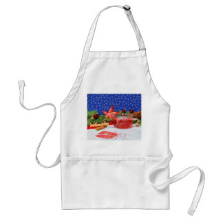 Kitchen apron with Christmas motive