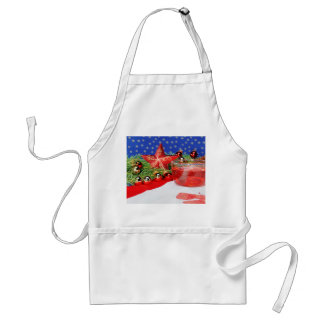 Kitchen apron with Christmas picture