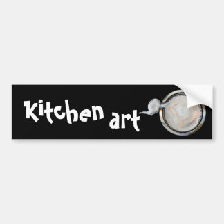 kitchen art car bumper sticker