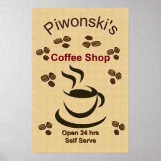 Kitchen Art - Coffee Shop Poster