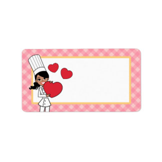 Kitchen Art Girl Label