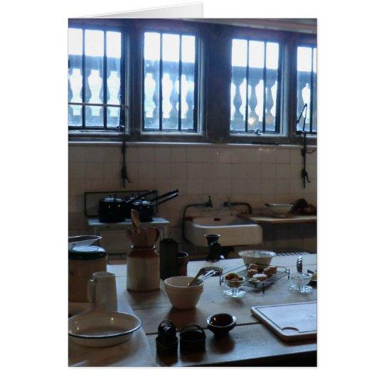 Kitchen at Sudbury Hall in Derbyshire, England Card