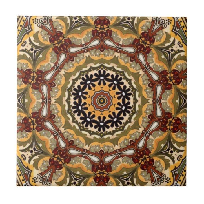 Kitchen Backsplash Accent Tile Tuscan Colors Zazzle Com